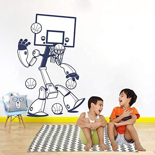 42 * 64cm nueva moda baloncesto robot vinilo removible