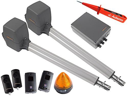 Pl2 Serie (Hörmann, Rotamatic PL2 BiSecur Serie 3 - Drehtorantrieb (2-flüglig) mit 2 Handsender HSE4 BS,Lichtschranken EL301 und Warnlicht SLK Set 5in1C)