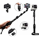 Yunteng YT-1288 Bluetooth Selfie Stick for Smartphones, Action and Digital Camera (Black)