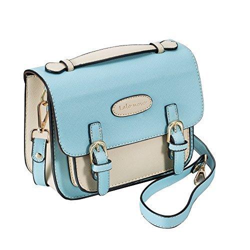 Mini 8 Sofortbildkamera Zubehör Fall - lalonovo Retro Vintage PU Leder Tasche für Fujifilm Instax Mini 8/Mini 7s/Mini 25/Mini 50s/Mini 90/Instant Film Kamera mit Schultergurt (Film Halloween 9 Full)