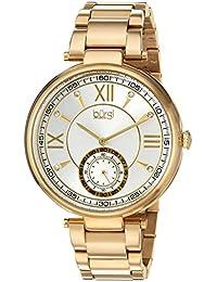 Burgi Reloj cuarzo Acero inoxidable Casual para Mujer, color: GOLD-TONED (modelo: bur175yg)