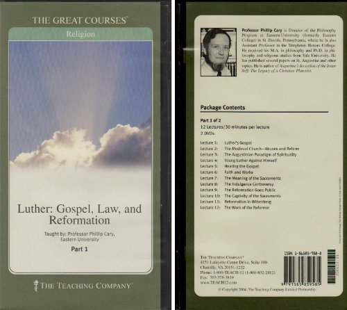 Luther: Gospel, Law, and Reformation (The Great Courses, Course Number 6633)
