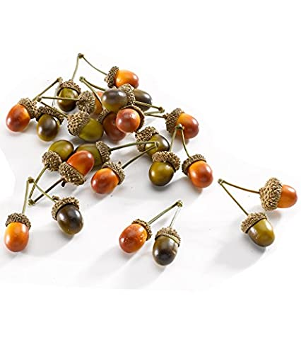 Artificial AUTUMN ACORNS for AUTUMN DISPLAY / AUTUMN CRAFT ACORNS / AUTUMN WINDOW DRESSING ACORNS - Set of 10 by Buzz