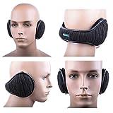 Dimples Excel Ohrenschützer Ohrenschützer Winter Ohrenschützer Herren Damen Faltbar Einstellbare Größe (2 Packung) (2 Ohrenschützer - schwarz + dunkelgrau) -