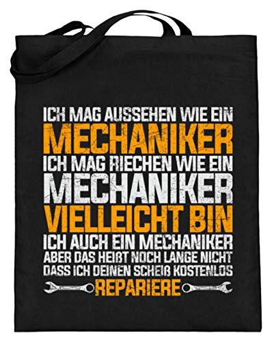 Chorchester Für Alle Mechaniker und Mechanik Fans - Jutebeutel (mit langen Henkeln) -38cm-42cm-Schwarz