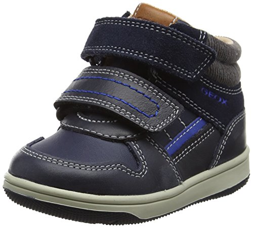 Geox Baby Jungen B New Flick Boy A High Top Sneaker, Blau (Navy/Royal), 26 EU (Schuhe Säuglinge High Top)