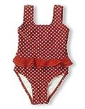 Playshoes Mädchen Badeanzug 461039 Badeanzug Punkte von Playshoes mit UV-Schutz nach Standard 801 und Oeko-Tex Standard 100, Gr. 110/116, Rot (8 rot )