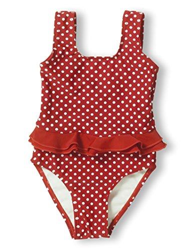 Playshoes Baby - Mädchen Schwimmbekleidung 461039 Badeanzug Punkte von Playshoes mit UV-Schutz nach Standard 801 und Oeko-Tex Standard 100, Gr. 74/80, Rot (8 rot)