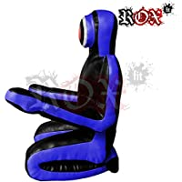 ROX Fit Passform MMA Judo Boxsack Grappling Dummy - Sitzposition, Submission Stil, Double Face, MMA Dummy, Stanz BJJ Training Bag 5 ft & 6 ft Schwarz/Blau (ungefüllt)