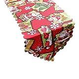 LoveLeiter-Weihnachten Tischläufer, Rot Weihnachten Tischdecke Abwaschbar Esstisch Läufer Dekorative Weihnachten Schneemann Desktop Küche Raumdekor Hochzeitsbankett Haushaltsdekoration (36x180cm)