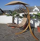 DESIGN Hängeliege NAVASSA mit Gestell aus Holz Lärche komplett mit Hängeliege und Dach von AS-S