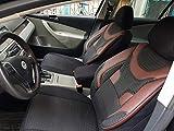 Sitzbezüge k-maniac | Universal schwarz-rot | Autositzbezüge Set Komplett | Autozubehör Innenraum | Auto Zubehör für Frauen und Männer | NO1926420 | Kfz Tuning | Sitzbezug | Sitzschoner