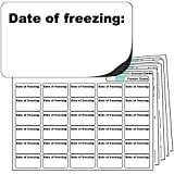 "480x ""Date of freezing"" FREEZER GRADE Self Adhesive Stickers. For Use With Any Standard Pen or Biro. Free First Class UK Delivery."