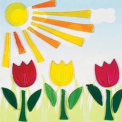 GelGems Sunny Tulips Small Bag Gel Clings