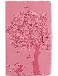 BONROY - Zapatillas de tenis de mesa para mujer Cats and tree - pink