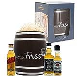 probierFass Whisky Geschenkset | 3 Whisky Klassiker (3 x 0.05 l) verpackt in einem originellen Fass | Johnnie Walker Red Label - Jack Daniel`s - Jim Beam | Das perfekte Spirituosen Geschenkset
