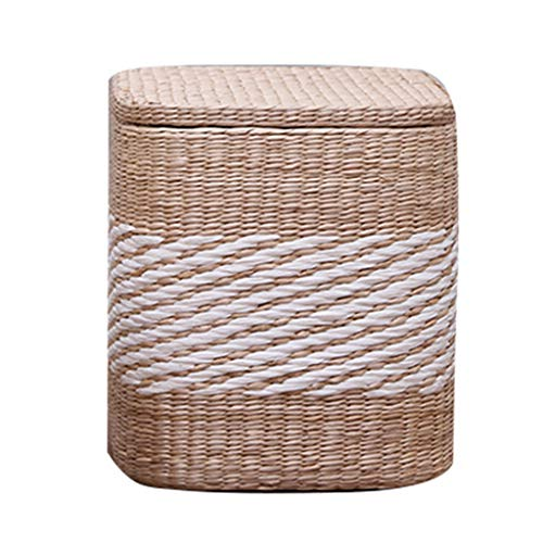 Ottoman Osmanischen Lagerung Fußstütze Massivholz Hand Weaving Easy Care Fußbänke Niedriger Hocker Vielseitig Bench Load-Bearing 150KG 2 Größen