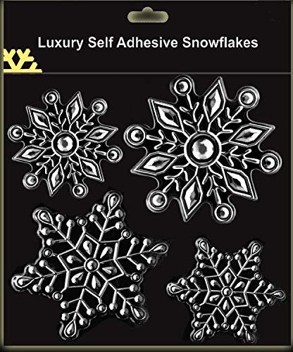 Schöne Silberschneeflocke-Fensteraufkleber Für Eingefrorene Themed Parteien (DP92) A