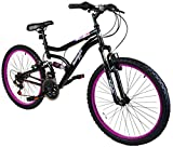 "Best Dual Suspension Mountain Bikes - Muddyfox Inca 24"" Girls Dual Suspension Mountain Bike Review"