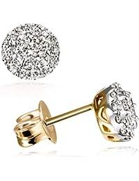 Goldmaid Damen-Ohrstecker 18 Karat 750 Gelbgold Glamourfassung 40 Diamanten 0,5 ct. Pa O3358GG750 Ohrringe Brillanten Schmuck