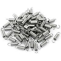 sourcingmap® 70 Stück 0.4mm x 3mm x 12mm Metall Zugfeder Federn Spezialfeder Garagentorfedern