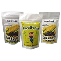 The Superfood Company, Healthy Snacks (Pack of 3) - Corn Olives and Fava Beans