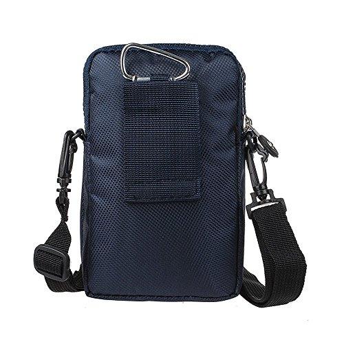 xhorizon marsupio sacchetto di sopravvivenza in Nylon con gancio per tracolla a fianco borsa con manico multiuso universale di grande capacità per viaggi all'aperto, campeggio, escursionismo #C Blu