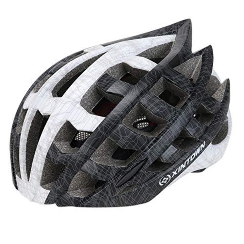 Fenverk Specialized Fahrradhelm Bike Helm Fahrradhelm Quatro Allmountain-Helm mit Größenverstellsystem für Erwachsene (L Schwarz)