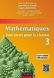 Mathématiques Tout-en-un pour la Licence 3 : Cours complet avec applications et 300 exercices corrigés (French Edition)