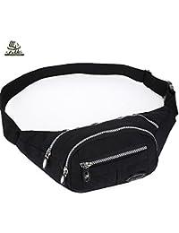 Buyworld Men Nylon Waist Pack Waterproof Women Belt Nylon Waistband Fashion Design Waist Pouch Bag Casual Travel...