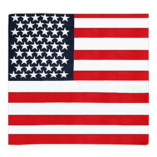 Gleader amerikanischen Stars and Stripes USA Flagge Bandana Haarband aus 100% Top-Qualitaet Stoff (Bandana Stoff)