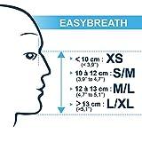EASYBREATH Schnorchelmaske (XS) (S/M) (M/L) (L/XL) (Blau, S/M)