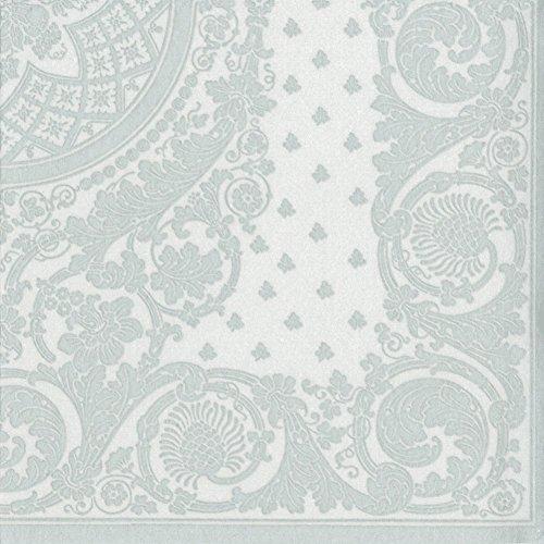 Caspari mit 12272Trichterwindesamen CG Jacquard Papier Leinen Serviette Cocktail, Silber, 15er Pack -