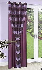 140x245 violett lila pflaume ZWEISEITIG Vorhang Vorhänge Gardine Ösenschal violet purple lilac 180_2