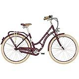 Bergamont Summerville N7 CB 28'' Damen Retro City Fahrrad Beere rot/beige 2019: Größe: 52cm (171-176cm)