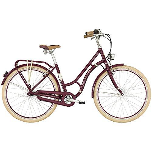Bergamont Summerville N7 CB 28\'\' Damen Retro City Fahrrad Beere rot/beige 2019: Größe: 48cm (165-170cm)