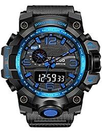 67bc09ec3c1e TD Reloj Juvenil Reloj De Pulsera Moda Hombre Adulto Impermeable Reloj  Electronico (Color   Azul