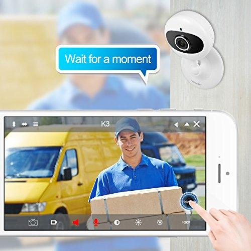 Wansview IP Kamera 720P WiFi Drahtlos Sicherheit Kamera für Baby/ Alter/ Haustier/ Kinderfrau Monitor mit Nachtsicht K2 (Schwarz) - 3