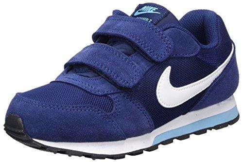 Nike Md Runner 2 (Psv), Chaussures de Tennis Fille Bleu (Binary Blue / White / Vivid Sky / Black)
