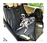 Nonslip Dog Seat Covers Travel Waterproof Durable Back Seat Cover With Car Safety Seat Belt ,Dog Car Seat Cover With Extra Side Flaps Scratch-proof Abrasion Resistance And Hammock Convertible Universal ( Color : Black )
