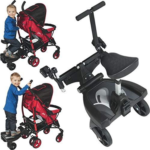 *Buggyboard + Zusatzsitz (Erweiterung) SET für Kinderwagen Buggy Jogger Kind Board*