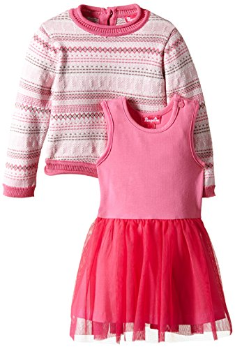 Pampolina Baby - Mädchen, Unterwäsche-Set, 2-in-1 Dress Sleeveless and Pullover, GR. 92...