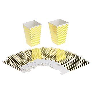 10x Popcorn Popcorntüten Popcornbecher Papiertüte Bonbons Becher Golden Wellen