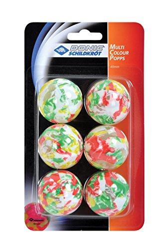Donic-Schildkröt Tischtennisball Multicolour Popps, 6 bunte Bälle, 649016