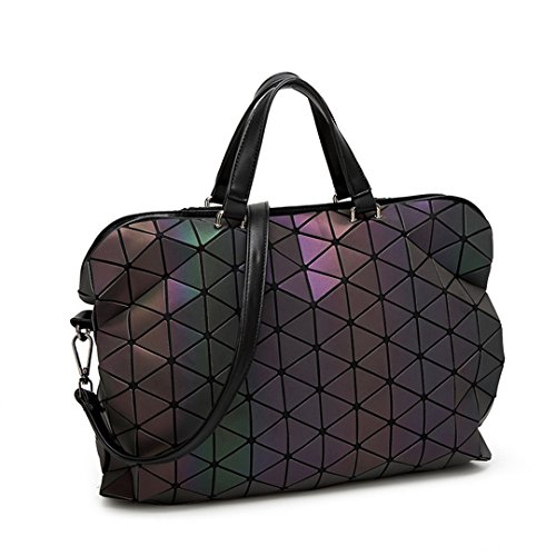 Mode Frauen Leuchtende Sac Bao Tasche Diamant Tote Geometrie Gesteppte Schultertasche Plain Folding Handtaschen Big Size