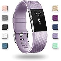 Adepoy Für Fitbit Charge 2 Armband, Verstellbare Weiches Silikon Sport Ersatzarmband für Fitbit Charge2