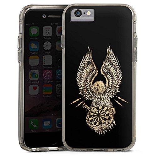 Apple iPhone 7 Bumper Hülle Bumper Case Glitzer Hülle Dart Adler Darts Bumper Case transparent grau