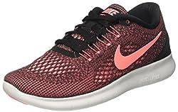 Nike Damen Free RN Laufschuhe Mehrfarbig (Black/Lava Glow/Off White) 37.5 EU