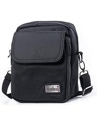 Hengwin Unisex Nylon Bolsa de Hombro Pequeña Bolsa de Cinturón (Negro)