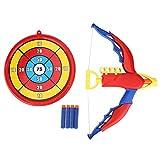 Set Jeux Tir à l'Arc Fléchette Jouet Arc avec Cible pour Enfants Ensemble Arc Fléchette pour Jeux Extérieur Jardin